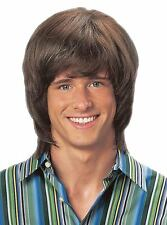 70's Shag Wig Austin Powers Brown Dress Up Halloween Adult Costume Accessory