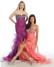 SEXY HIGH LOW 2015 PROM DRESS PAGEANT SWEET 16 FORMAL EVENING GOWN NEW YEARS EVE