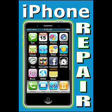 iPhone Repair Banner Sign poster computer apple cell phone neon alternative 4s 5
