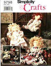 """Simplicity 9798 24"""" Stuffed Dolls and Cow-Doll Pattern New or Cut"""