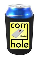 Cornhole Nice Bag Funny/Unique Beer Can Coolie.