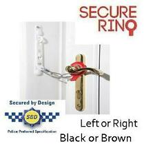 Secure Ring Door Lock Secure UPVC Wooden Restrictor Security Chain Black Brown