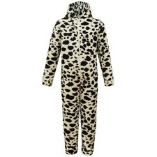 New Coral Fleece Black White Leopard  All in One Pyjamas Jumpsuits Age 2-13 year