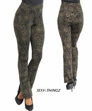 NEW SEXY BLACK & GOLD ACCENT Evening HIGH-WAISTED STRETCH PANTS Juniors S/M/L