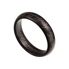 Black Tungsten Carbide 5mm Lord Of The Rings Band Plain Size 5-12 Half Size TG23