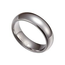 Silver Tungsten Carbide 6mm Comfort Fit Plain Rings Wedding Band Size 5-13 TG027