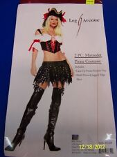2 pc. Marauder Pirate Caribbean Black Leg Avenue Halloween Sexy Adult Costume