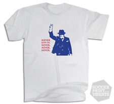Winston Churchill Patriotic Never Give In War Quote T Shirt All Sizes + gift box