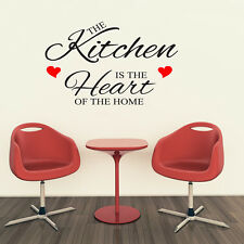 THE KITCHEN IS THE HEART OF THE HOME LARGE WALL ART QUOTE STICKER
