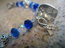 Colon Cancer Bracelet -Prostate-Choice of Hope Mother Father Husband Charm