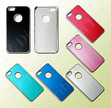 For iPhone 5 5G Case Luxury Brushed Aluminum Metal Hard Case Cover + film New