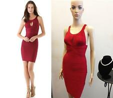 Sexy CELEBRITY RED KEYWHOLE BANDAGE BODYCON DRESS Evening Dress