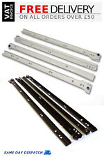 METAL ROLLER BOTTOM FIX DRAWER RUNNERS 250mm-600mm