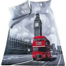 Stunning London Bus and Big Ben Duvet Set Single, Double and King Size.
