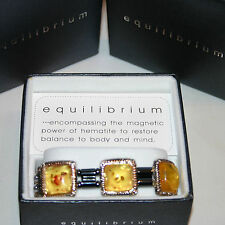 Equilibrium Magnetic Hematite Bracelet Collection with Gems & Multi Colours BNIB