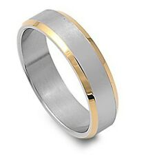 Personalized Stainless Steel Two-Tone Finished Ring - Free Engraving