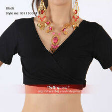 Belly Dance Costume Dress Cotton Top Choli Black S M L XL XXL