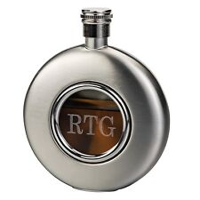 Glass Front Whiskey Flask + Option to Personalize