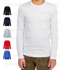PACK OF 3 WHITE SCHOOL LONG SLEEVE T-SHIRTS CHILDRENS BOYS GIRLS AGE 3-13 YEARS