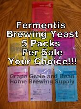 Fermentis Brewing Yeast, 5 Packs Per Sale, YOUR CHOICE or MIX and MATCH!!!