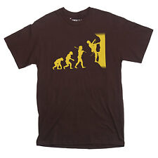 EVOLUTION of a ROCK CLIMBER T-shirt climbing mountain belay CHOOSE SIZE S-XXL