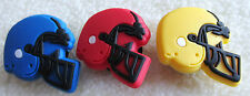 1 PC. FOOTBALL HELMET IN BLUE/RED/OR YELLOW SHOE CHARMS FIT CROCS JIBBITZ!