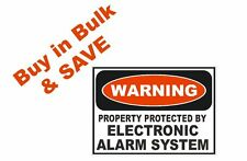 Warning Alarm System Safety Business Sign Decal Sticker D242