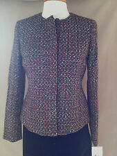 Evan-Picone Tweed Weave Blazer Jacket NEW w/Tag SOLD OUT IN STORES RETAILS @$129