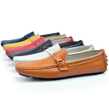 US5-9 REAL Leather Casual SLIP-ON Penny Loafer fashion mens cars shoes  [JG]