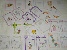 MOTHERS DAY CARD INSERTS - assorted designs and verses