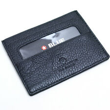 New Cowhide Genuine Leather BUSINESS ID Credit Card Wallet Purse In Fashion