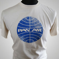 PAN AM RETRO T SHIRT COOL CLASSIC VINTAGE TEE TV SERIES DVD AIRLINE FLIGHT