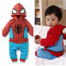 Spiderman Baby Kid Toddler Onesie Bodysuit Romper Jumpsuit Coverall Outfit Cloth