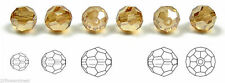 Czech Machine Cut Faceted Round Crystal Beads, Crystal Celsian Full coated