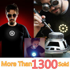 Tony Stark Light up LED Iron Man T-Shirt Tee Mens Unisex XS-XXL Sound Activated