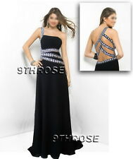 SHOW OFF YOUR STYLE! BLACK BEADED FORMAL/EVENING/PROM/BALL GOWN WITH OPEN BACK