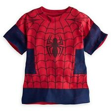 NWT Disney Store Superhero Marvel Spider-Man Costume Tee T-Shirt NEW Spiderman
