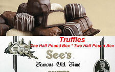 Half Pound Box See's Candies Truffles Chocolate Candy Pick Flavor + Gift Wrap