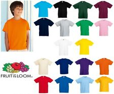 Fruit of the Loom Kid's valueweight tee All Sizes