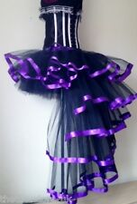 Burlesque Purple Black Dita Tutu Skirt XS S  M  L XL Sexy Bustle Steam punk