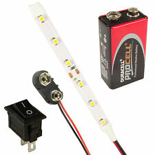 Scalextric LED Strip Lights + Switch + PP3 + Battery All Colours & Lengths