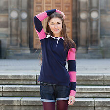 Front Row Women's Striped Sleeve Rugby All Sizes