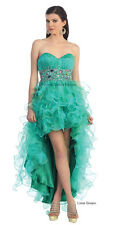 NEW COCKTAIL PROM 2014 HIGH LOW GOWN SWEET 16 PAGEANT HOMECOMING QUEEN DRESSES