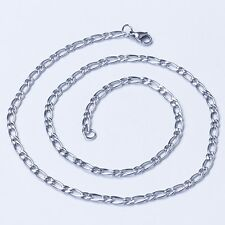 """4.6 MM 10""""-40"""" Silver Stainless Steel Curb Necklace Chain Sb16 USA Seller"""