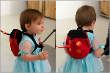 Baby Toddler Safety Harness Backpack Strap Walker Reins Ladybird / Bat.