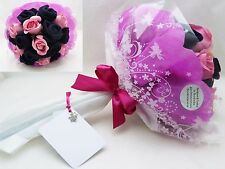 LADIES COTTON SOCKS ARTIFICIAL FLOWER BOUQUET BIRTHDAY GET MOTHERS DAY GIFT