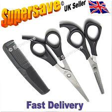 Hairdressing barber dresser salon 3pc scissors comb set cutting thinning styling