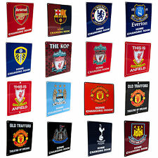 Official Football Club Crested Metal HOME CHANGING ROOM SIGN (23 x 25cm)