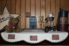 Primitive Americana Country Shelf/Mantel Scarf Runner in Various Styles
