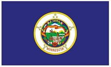 MINNESOTA Vinyl State Flag DECAL Sticker MADE IN THE USA F311